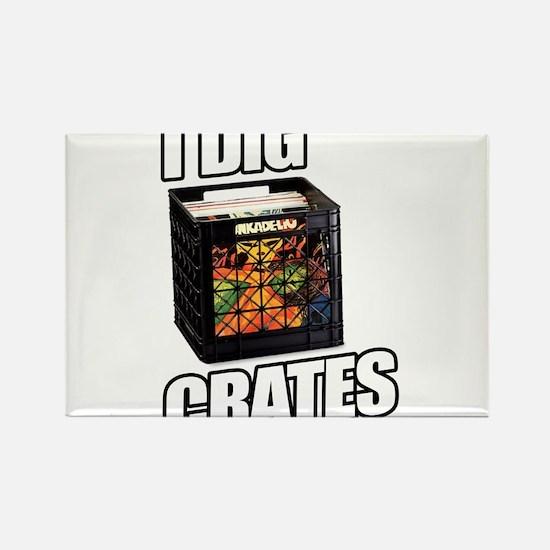I DIG CRATES Rectangle Magnet