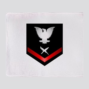 Navy PO3 Cryptologic Technician Throw Blanket