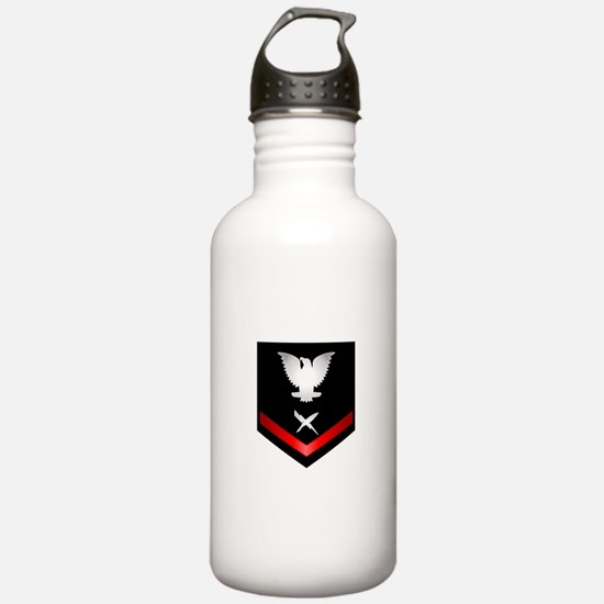 Navy PO3 Cryptologic Technician Water Bottle