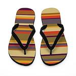 Whose Scarf Stripes Flip Flops