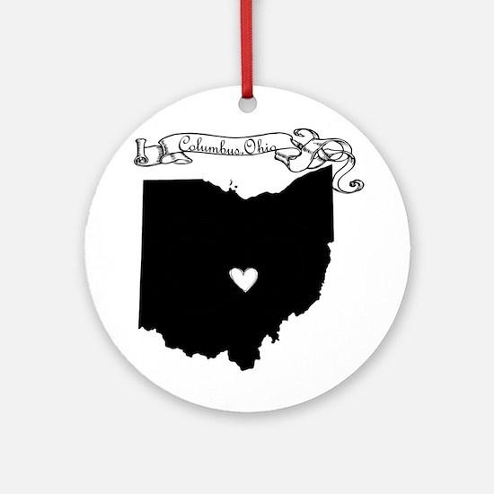 Columbus Ohio Ornament (Round)