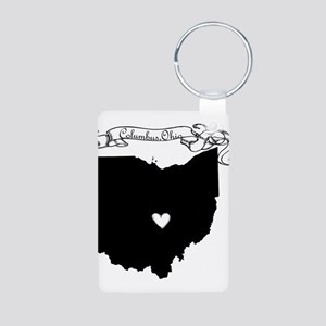 Columbus Ohio Aluminum Photo Keychain