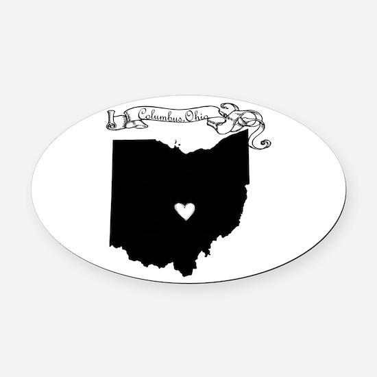 Columbus Ohio Oval Car Magnet