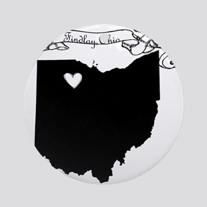 Findlay Ohio Ornament (Round)