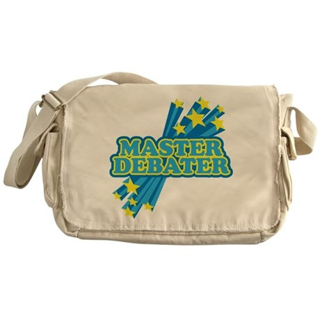 Master Debater Messenger Bag