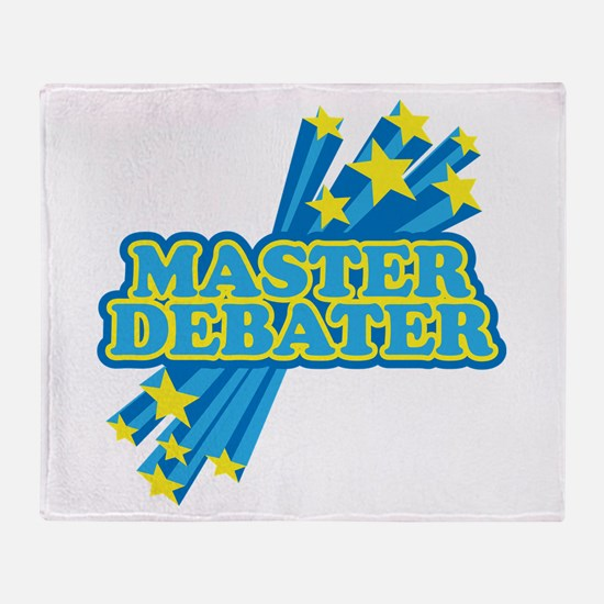 Master Debater Throw Blanket