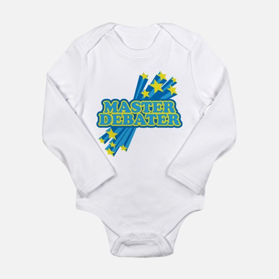Master Debater Long Sleeve Infant Bodysuit