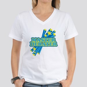 Master Debater Women's V-Neck T-Shirt