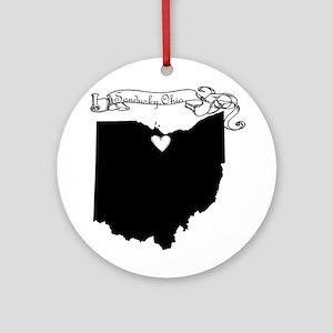 Sandusky Ohio Ornament (Round)