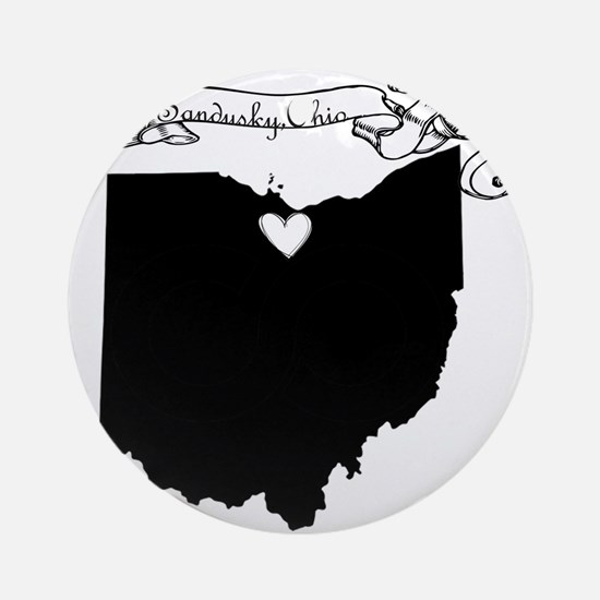 Sandusky Ohio Ornament (Round)
