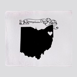 Youngstown Ohio Throw Blanket