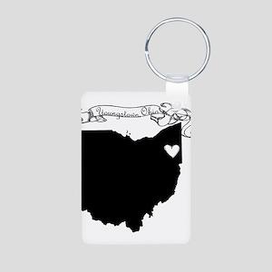 Youngstown Ohio Aluminum Photo Keychain