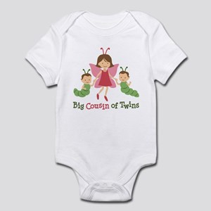 Big Cousin of Twins - Butterfly Infant Bodysuit