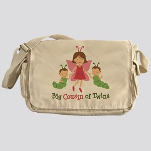 Big Cousin of Twins - Butterfly Messenger Bag