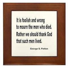 Patton on Death Framed Tile
