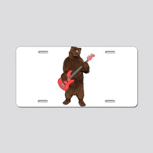 Bears Rock Aluminum License Plate