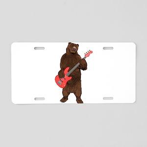 Bears Rock Aluminum License Plate