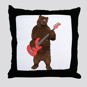 Bears Rock Throw Pillow