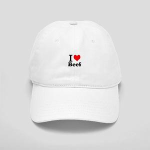 i love beef, beef, meat Cap