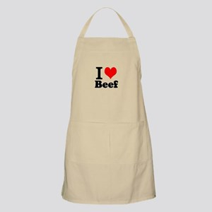 i love beef, beef, meat Apron