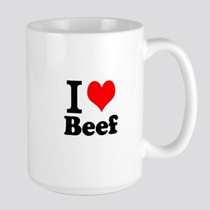 i love beef, beef, meat Large Mug
