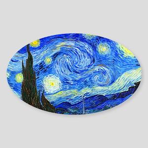 Van Gogh - Starry Night Sticker (Oval)