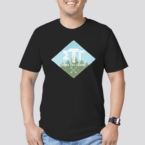 Sigma Tau Gamma Mountains Diamonds Blue T-Shirt