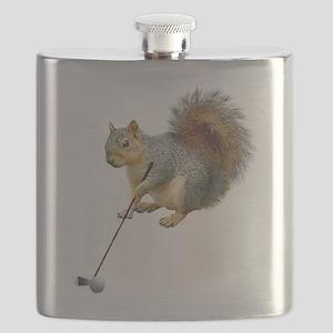 Golfing Squirrel Flask