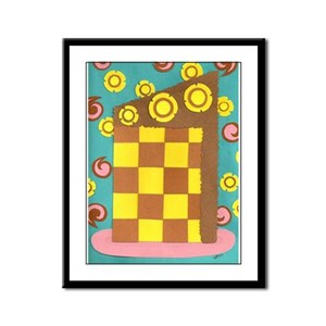 Checkerboard Cake Framed Panel Print