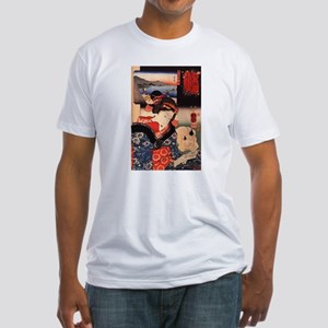 Japanese Cats Fitted T-Shirt