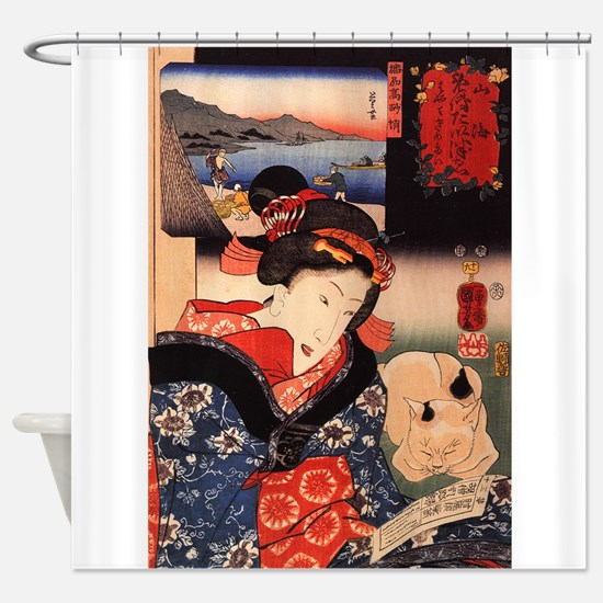 Japanese Cats Shower Curtain
