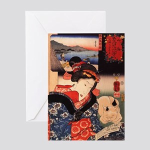 Japanese Cats Greeting Card