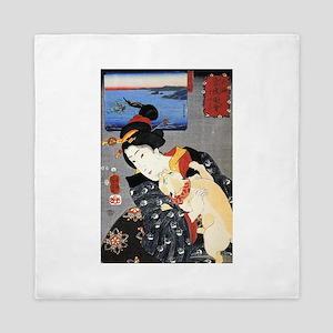 Japanese Cats Queen Duvet