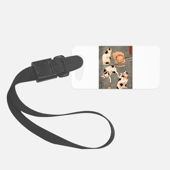 Japanese Cats Luggage Tag