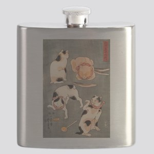 Japanese Cats Flask