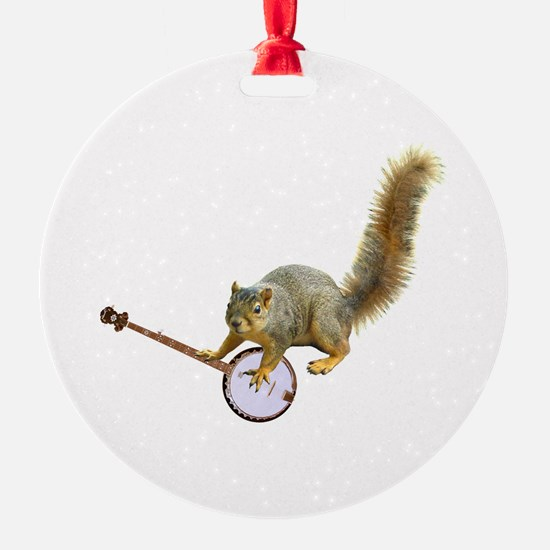 Squirrel with Banjo Ornament
