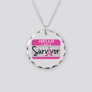 Breast Cancer Survivor 24 Necklace Circle Charm