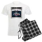 Cute Happy Oven with cupcakes Men's Light Pajamas