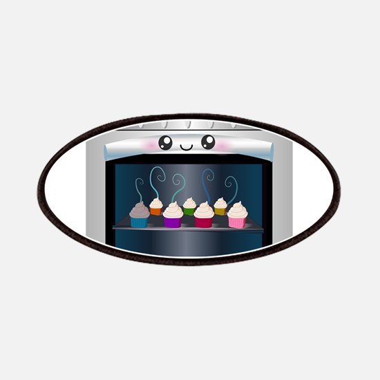 Cute Happy Oven with cupcakes Patches