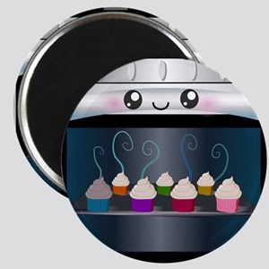 Cute Happy Oven with cupcakes Magnet