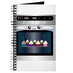 Cute Happy Oven with cupcakes Journal