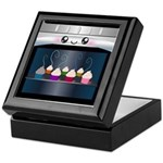 Cute Happy Oven with cupcakes Keepsake Box