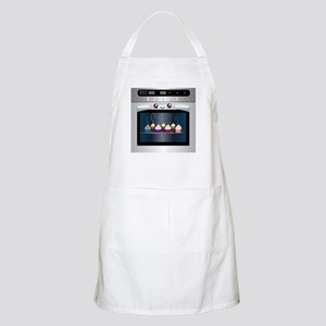 Cute Happy Oven with cupcakes Apron