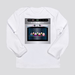 Cute Happy Oven with cupcakes Long Sleeve Infant T