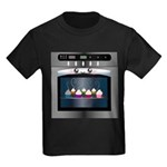 Cute Happy Oven with cupcakes Kids Dark T-Shirt