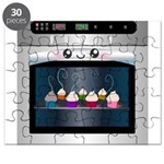 Cute Happy Oven with cupcakes Puzzle