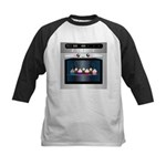 Cute Happy Oven with cupcakes Kids Baseball Jersey