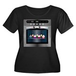 Cute Happy Oven with cupcakes Women's Plus Size Sc