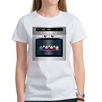 Cute Happy Oven with cupcakes Women's T-Shirt