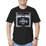 Cute Happy Oven with cupcakes Men's Fitted T-Shirt